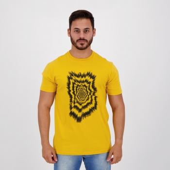 Camiseta Volcom Silk Projectionist Amarela
