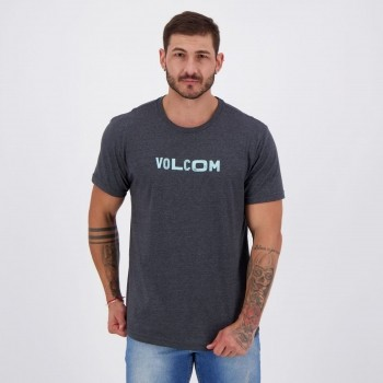 Camiseta Volcom Silk Reply Chumbo