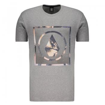 Camiseta Volcom Silk Stone Palms Solid Cinza Mescl