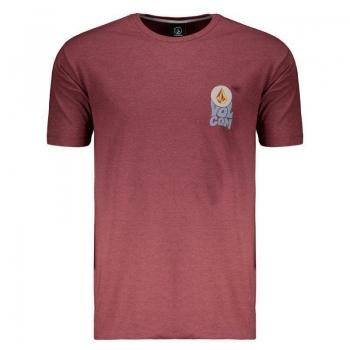 Camiseta Volcom Silk Sundown Vinho Mescla