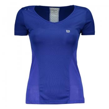 Camiseta Wilson Performance Feminina Azul