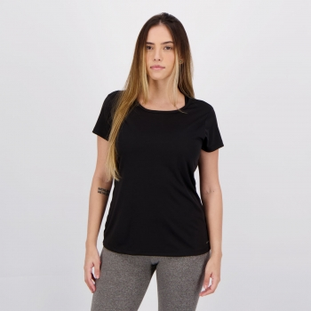 Camiseta Wunder Sports Fitness Feminina Preta