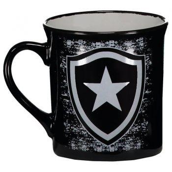 Caneca Botafogo Porcelana Preta