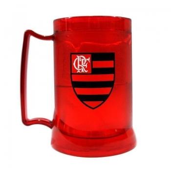 Caneca Gel Flamengo Escudo Vermelha
