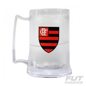 Caneca Gel Flamengo Incolor Escudo