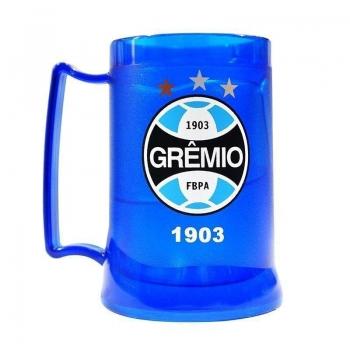 Caneca Gel Grêmio Escudo 400ml Azul