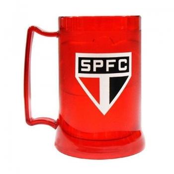 Caneca Gel São Paulo Escudo 400ml Vermelha