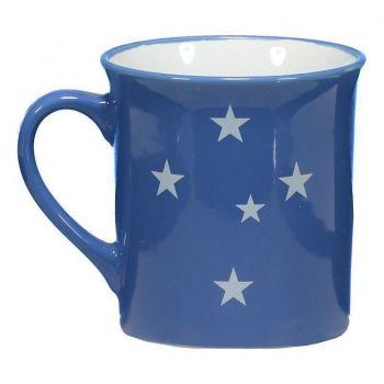 Caneca Porcelana Cruzeiro 370ml Azul
