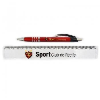 Caneta e Régua Sport Recife Conjunto