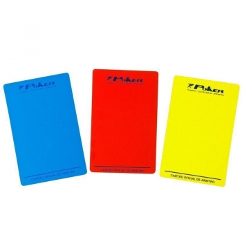 Cartão Poker Árbitro Futsal Oficial