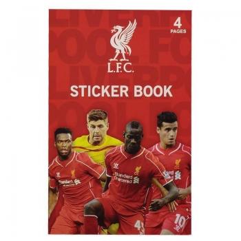 Cartela Com 16 Adesivos Liverpool