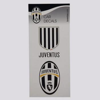 Brinde Cartela com 2 Adesivos para Carro Juventus