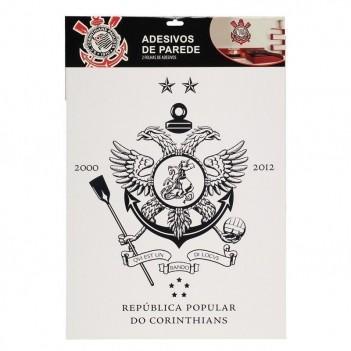 Cartela Com 4 Adesivos de Parede Corinthians