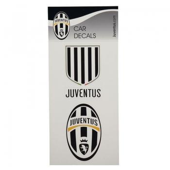 Cartela Com 2 Decalques Para Carros Juventus