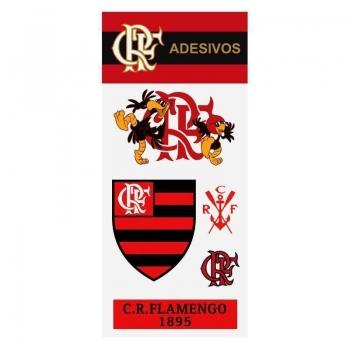 Cartela Com 5 Adesivos Flamengo