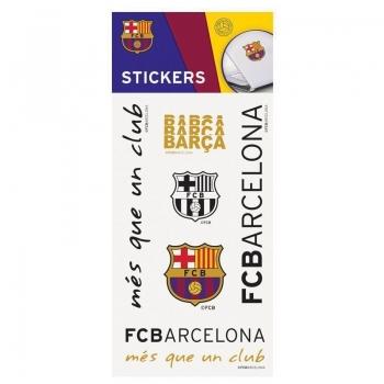 Cartela Com 6 Adesivos Barcelona