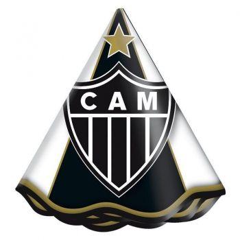 Chapéu Atletico Mineiro 8 Unidades Branco e Preto