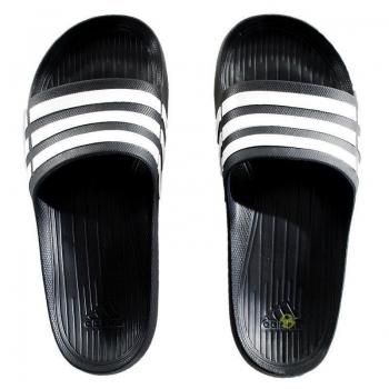 Chinelo Adidas Duramo Slide Preto e Branco