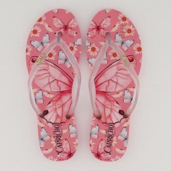 Chinelo Capricho Butterfly Style Feminino Rosa