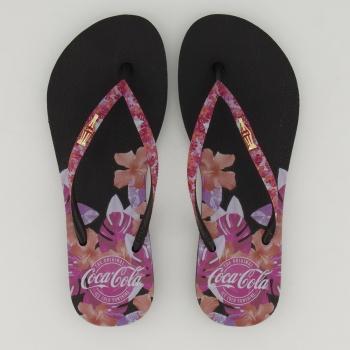 Chinelo Coca Cola Pink Sensation Feminino Preto
