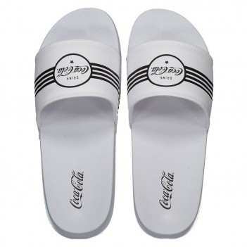 Chinelo Coca Cola Slide Drink Coke Branco