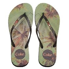 Chinelo Coca Cola Tropical Square Feminino Preto