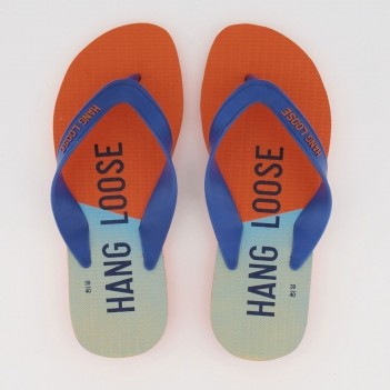 Chinelo Hang Loose Plus Azul e Laranja