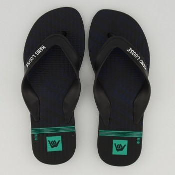 Chinelo Hang Loose Plus Preto e Verde