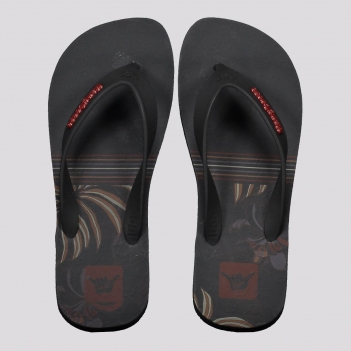 Chinelo Hang Loose Psyflor Preto