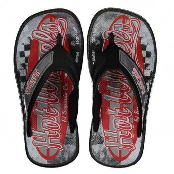 Chinelo Hot Wheels Super Flop Light Speed Infantil Preto