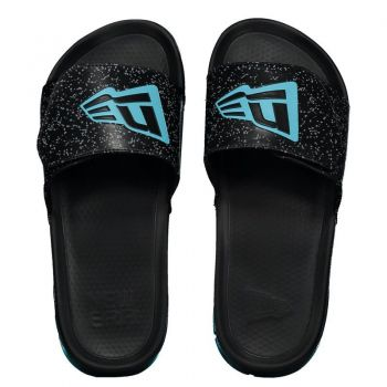 Chinelo New Era Slide Preto e Azul
