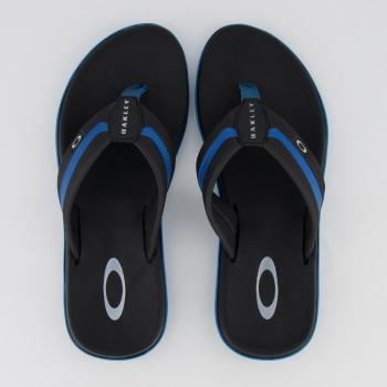 Chinelo Oakley Soul II Preto e Azul Claro