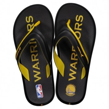Chinelo Rider NBA Golden State Warriors Preto e Amarelo