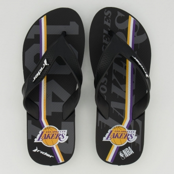 Chinelo Rider NBA Los Angeles Lakers Street Bold Preto