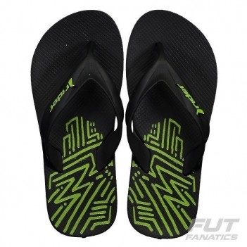 Chinelo Rider Strike Graphics Preto e Verde