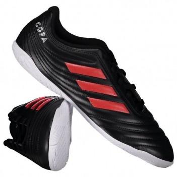 Chuteira Adidas Copa 19.4 IN Futsal Juvenil Preta e Vermelha