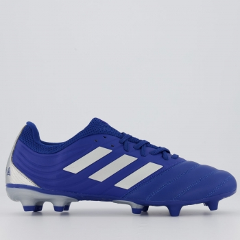 Chuteira Adidas Copa 20.3 FG Campo Azul
