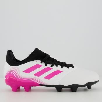 Chuteira Adidas Copa Sense 21.3 FG Campo Branca