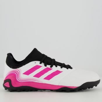 Chuteira Adidas Copa Sense 21.3 TF Society Branca