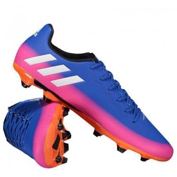 Chuteira Adidas Messi 16.3 FG Campo Azul e Rosa