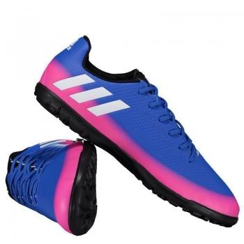 Chuteira Adidas Messi 16.3 TF Society Juvenil Azul