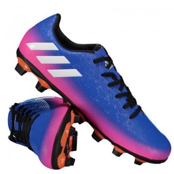 Chuteira Adidas Messi 16.4 FXG Campo Azul e Rosa
