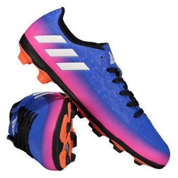 Chuteira Adidas Messi 16.4 FXG Campo Juvenil Azul