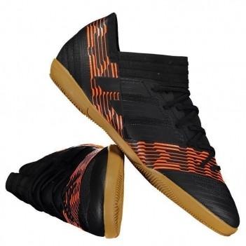 Chuteira Adidas Nemeziz 17.3 IN Futsal Preta e Laranja