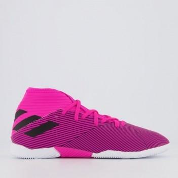 Chuteira Adidas Nemeziz 19.3 IN Futsal Juvenil Rosa
