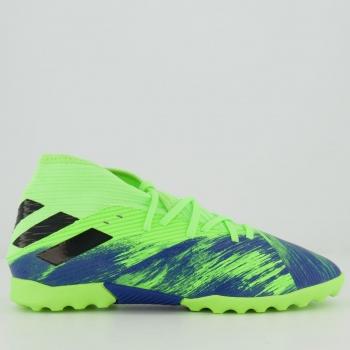 Chuteira Adidas Nemeziz 19.3 TF Society Juvenil Verde