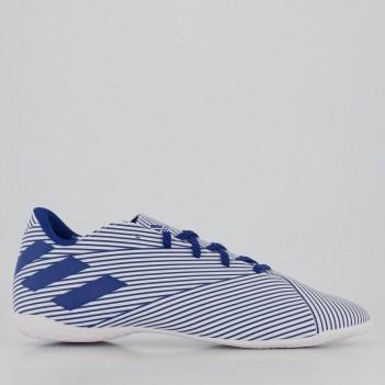 Chuteira Adidas Nemeziz 19.4 IN Futsal Branca e Azul