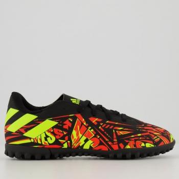 Chuteira Adidas Nemeziz Messi 20.4 TF Society Juvenil Laranja