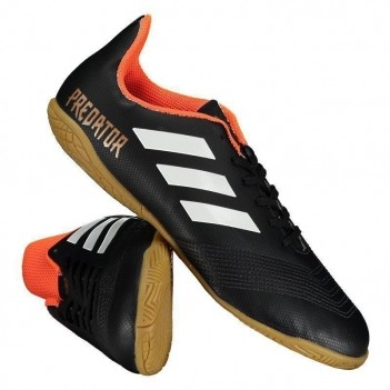 Chuteira Adidas Predator 18.4 IN Futsal Juvenil Preta