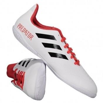 Chuteira Adidas Predator 18.4 IN Futsal Juvenil Branca